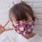 Funky girl wearing Face Mask